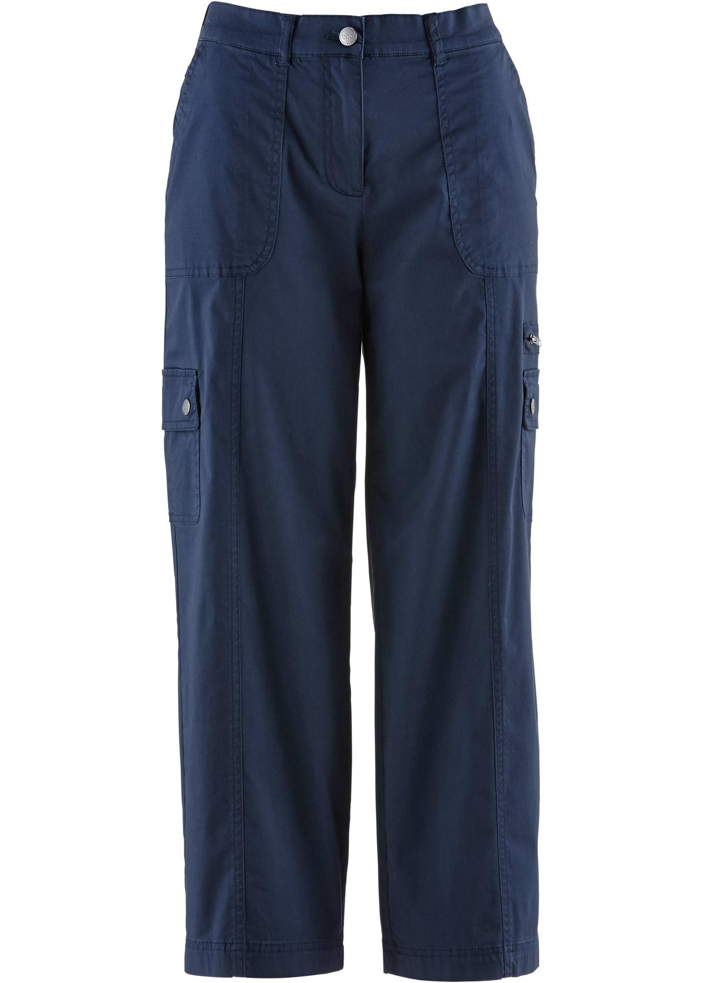 bpc bonprix collection 7 8-Papertouch-Hose mit weitem Bein in blau für  Damen von bonprix 465827c449