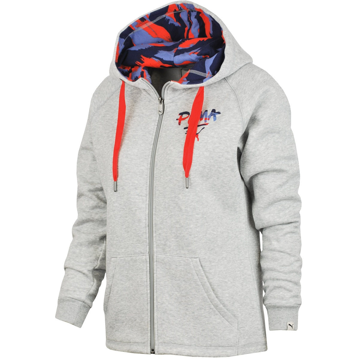 Puma FUN Hooded Sweat Jkt Fl W šedá S - Glami.cz 0af6df9fe1d