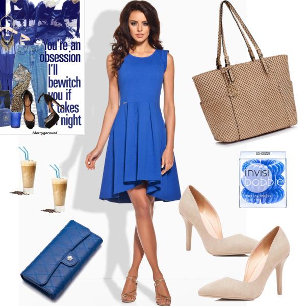 Modrá a béžová