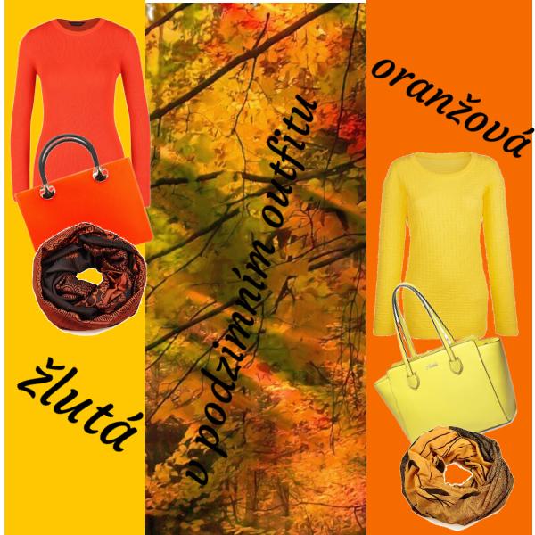 žlutá a oranžová podzimní 2