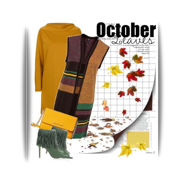 Žlutá a oranžová v podzimním outfitu.