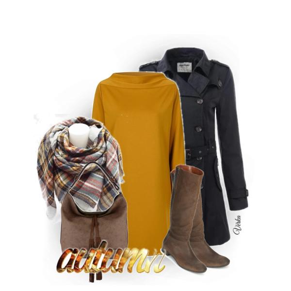 Žlutá v podzimním outfitu...