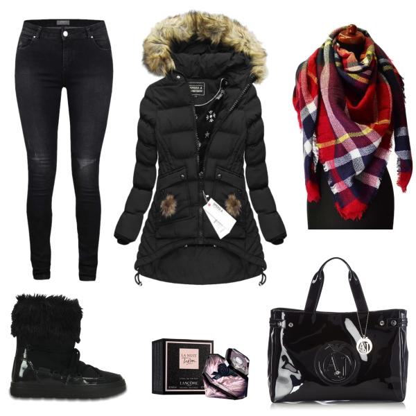 Zimní nákupní outfit
