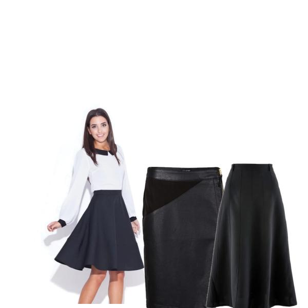Černé sexy sukně