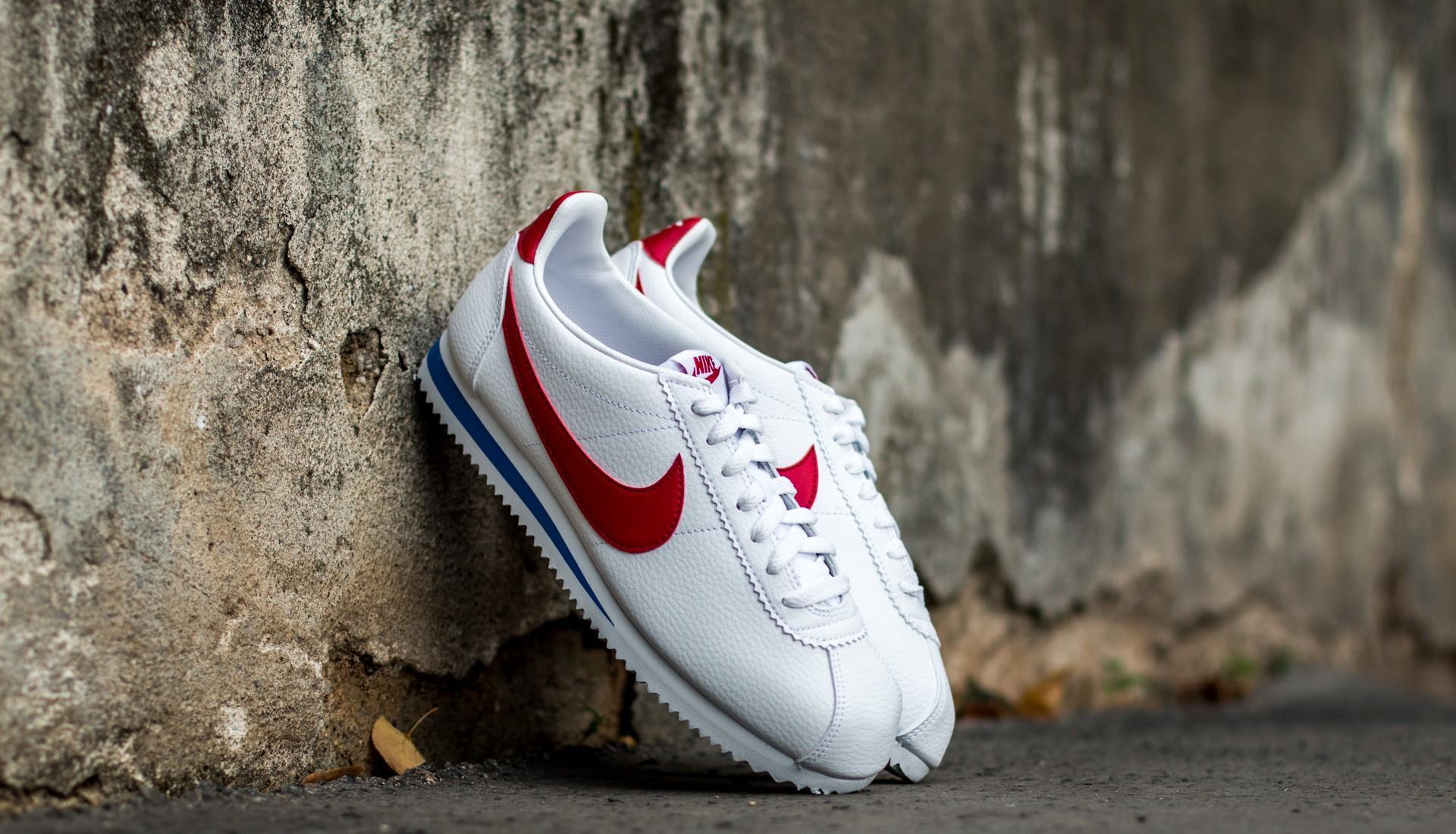 89cb5325ab Nike Classic Cortez Leather White/ Varsity Red-Varsity Royal - Glami.hu