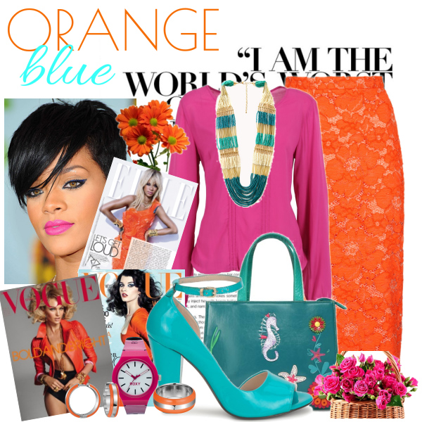 Orange blue violet set