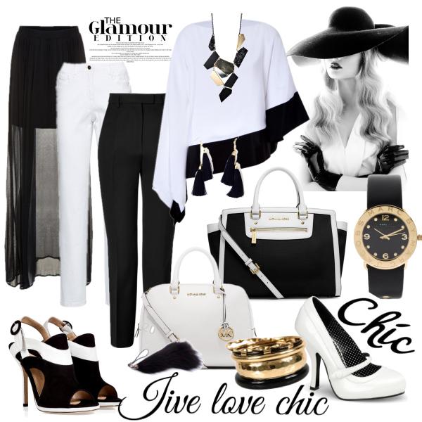 Elegantní v černobílé