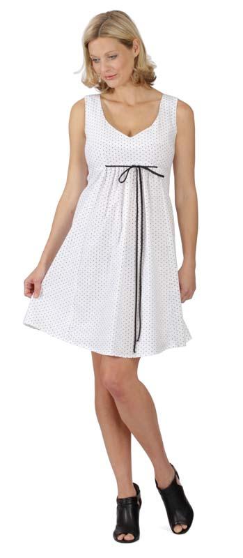 Těhotenské šaty RIALTO LACROIX bílé s černými puntíky 4779 - Glami.cz ac02452a44