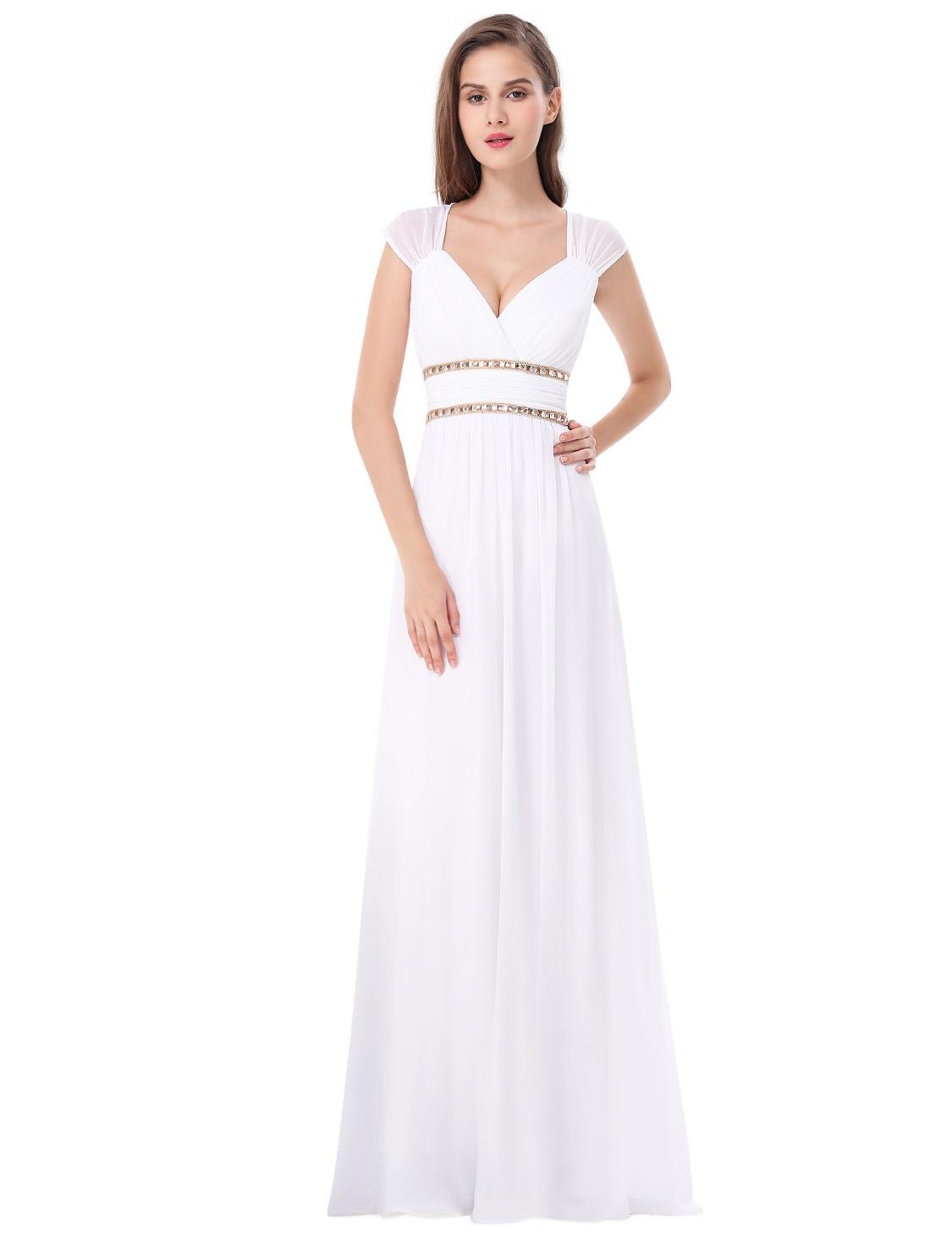 c69d2810189e Ever-Pretty Bílé šaty inspirované antikou ze šifonu - Glami.cz