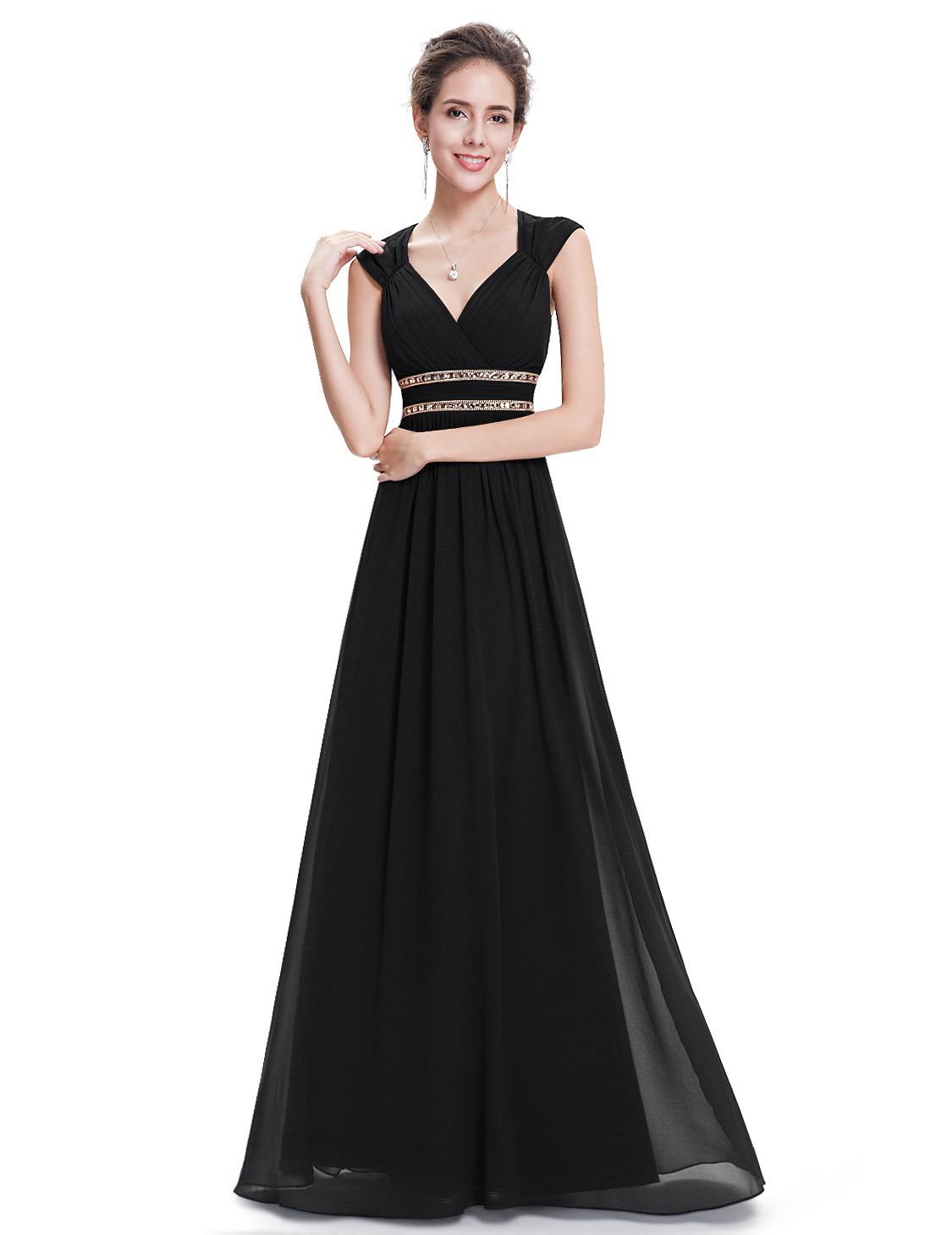 92e0ddf3dcdc Ever-Pretty Černé šaty inspirované antikou ze šifonu - Glami.cz