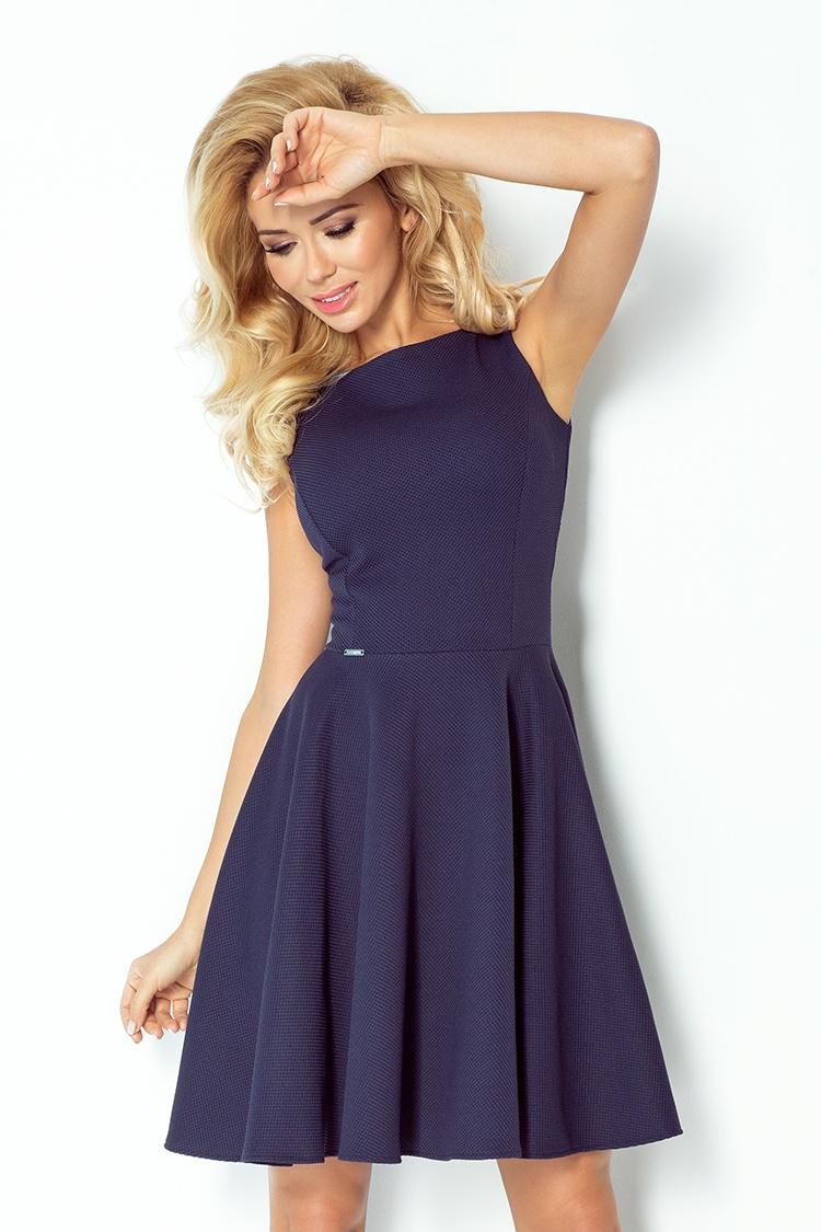98e5ac7c0830 NUMOCO Dámské šaty Michaela modré - Glami.cz