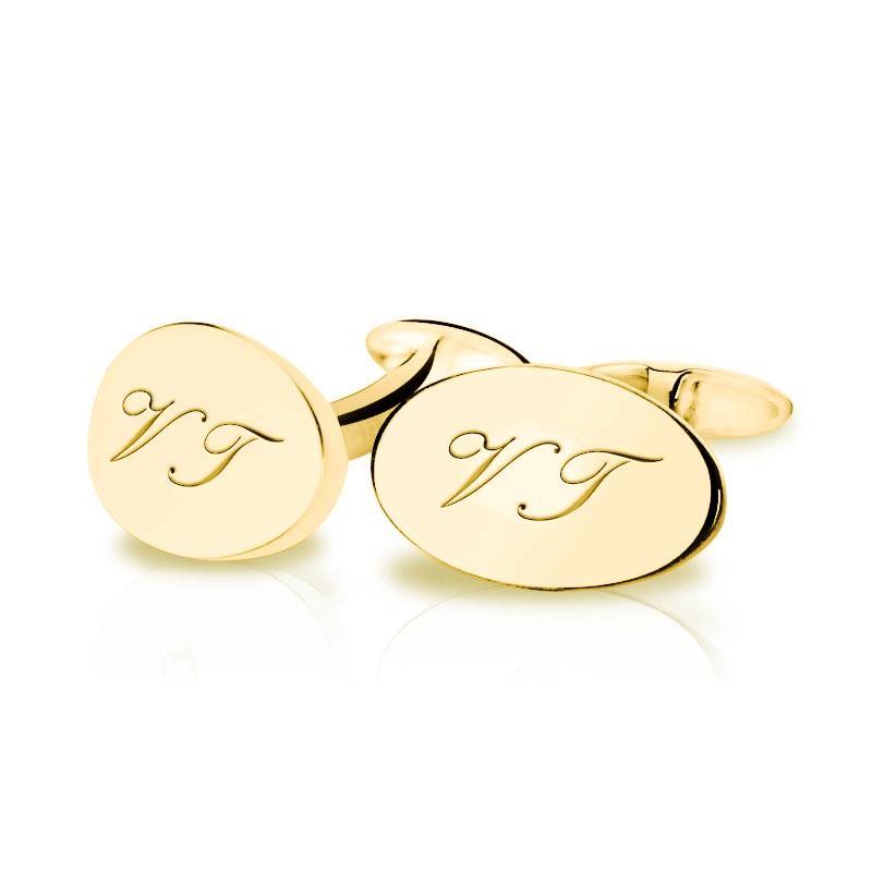 9b77733006e4 Eppi Zlaté manžetové gombíky s iniciálmi Sten - Glami.sk