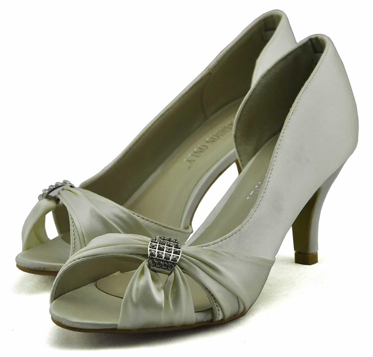 LS fashion LS dámské elegantní saténové lodičky 0133 slonová kost ... 46bc4a3b0e