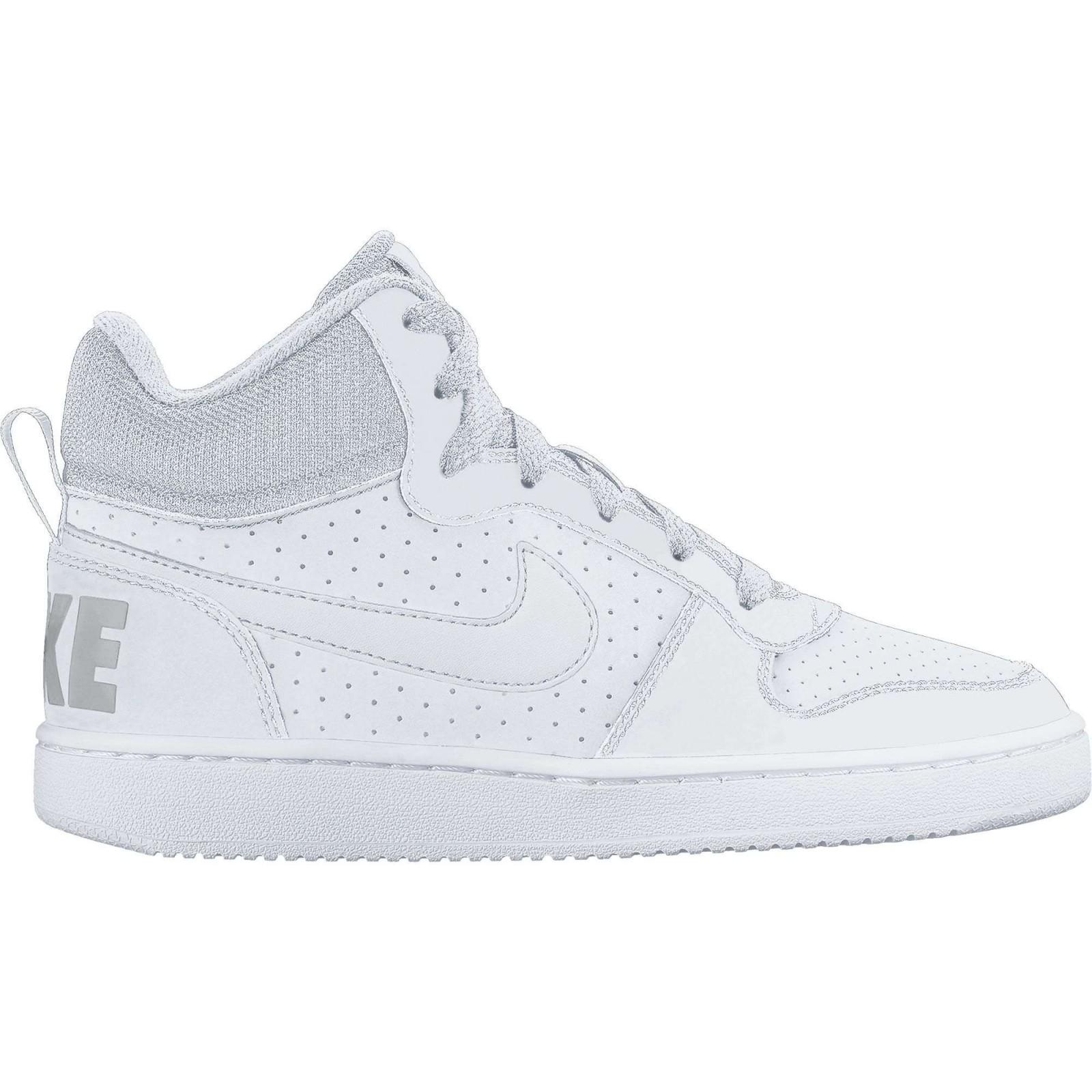 Dětské boty Nike COURT BOROUGH MID (GS) WHITE WHITE-WHITE - Glami.sk db12cfeb97f