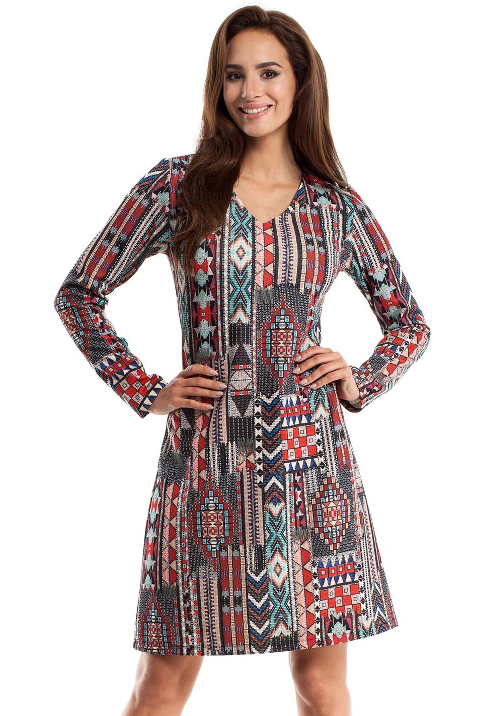 b25498c1a922 Čierno-červené šaty MOE 257 - Glami.sk