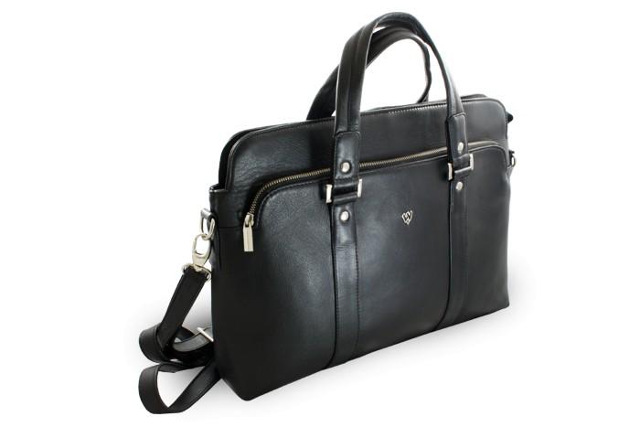 Arwel Černá kožená business taška na notebook Catalina. Arwel Černá kožená  business taška na notebook Catalina 2e50d93548