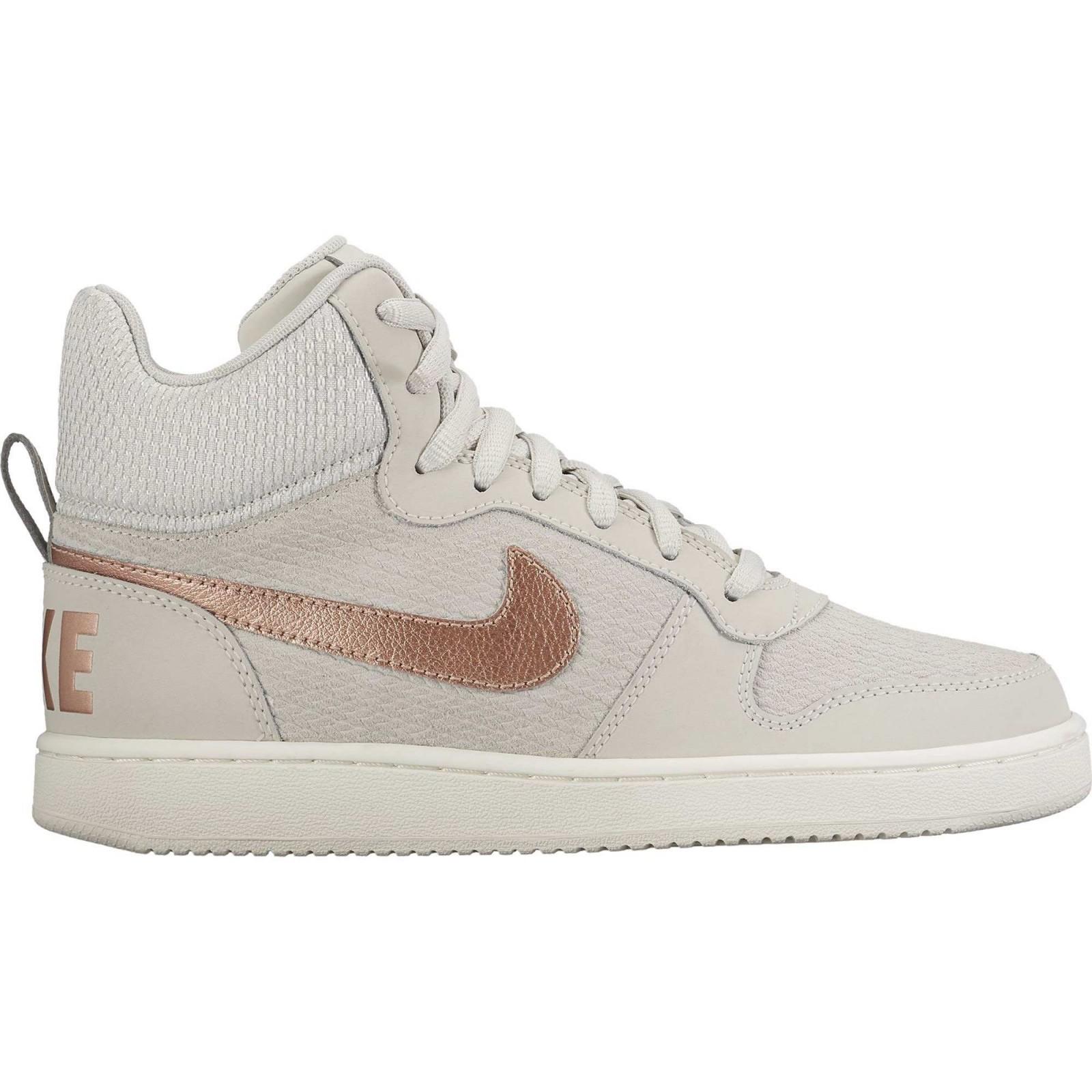 3220d219d Dámské tenisky Nike W COURT BOROUGH MID PREM LIGHT BONE/MTLC RED BRONZE-SAI
