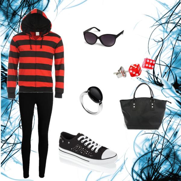 červeno-černý set