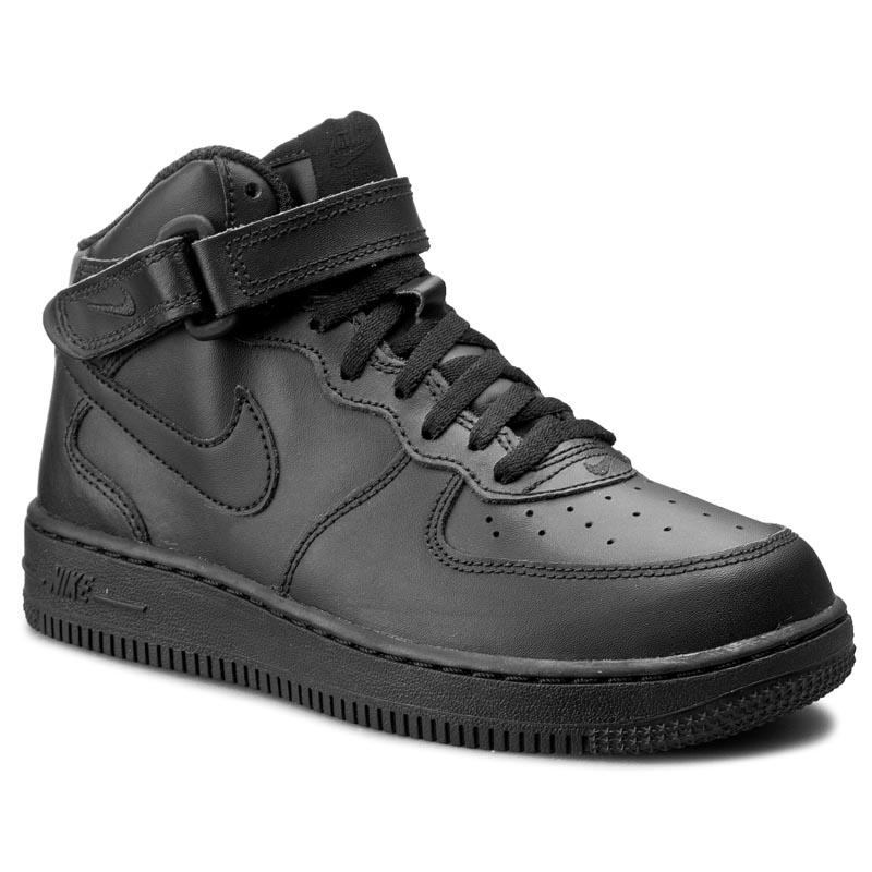 Cipők NIKE - Force 1 Mid (PS) 314196 004 Black Black - Glami.hu a5a8261902