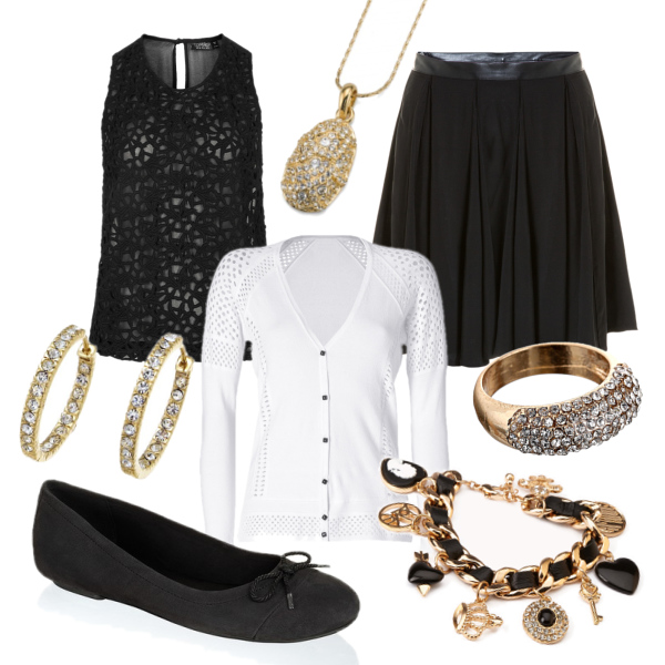 black white gold