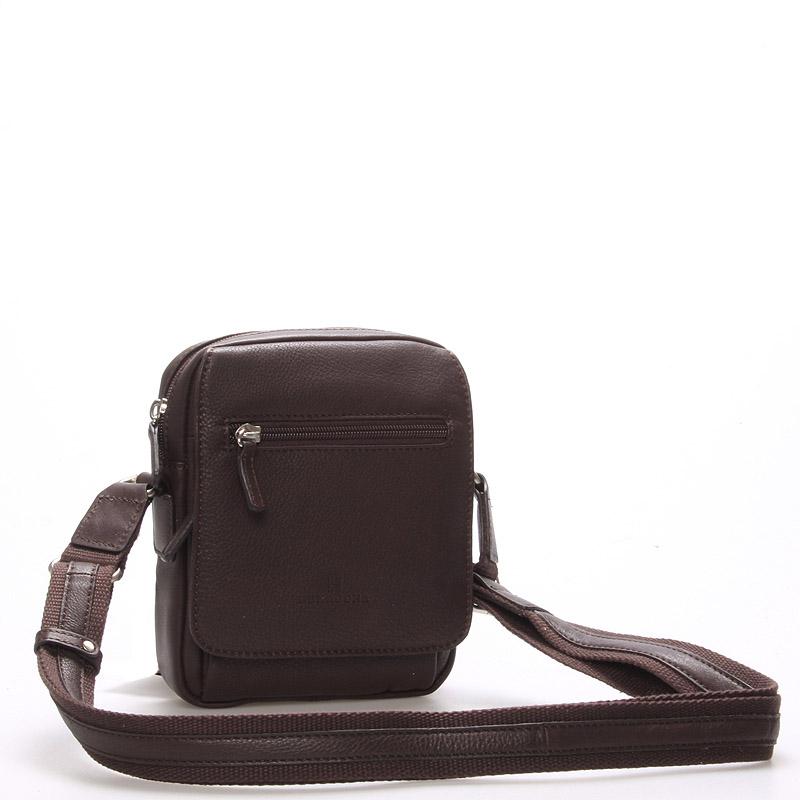 Luxusná pánska kožená taška cez rameno hnedá - Hexagona Eriq hnedá ... 381526c6b01