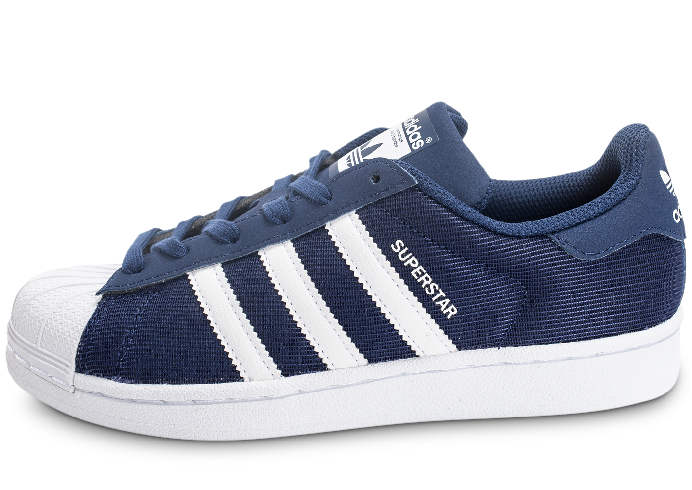 adidas Baskets/Tennis Superstar Nylon Junior Bleu Marine Enfant. 1
