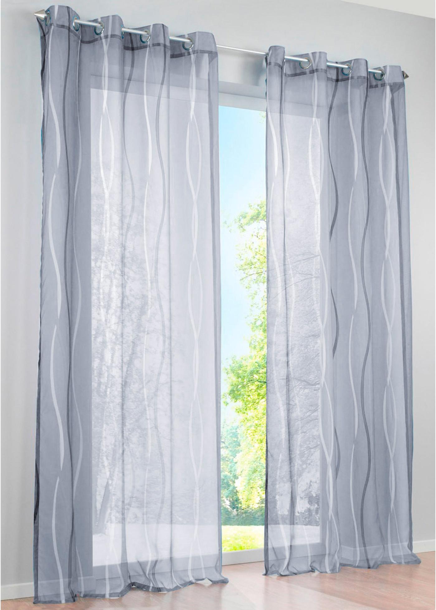 bpc living bonprix voilage vienne teint pce argent pour maison with bon prix voilage. Black Bedroom Furniture Sets. Home Design Ideas