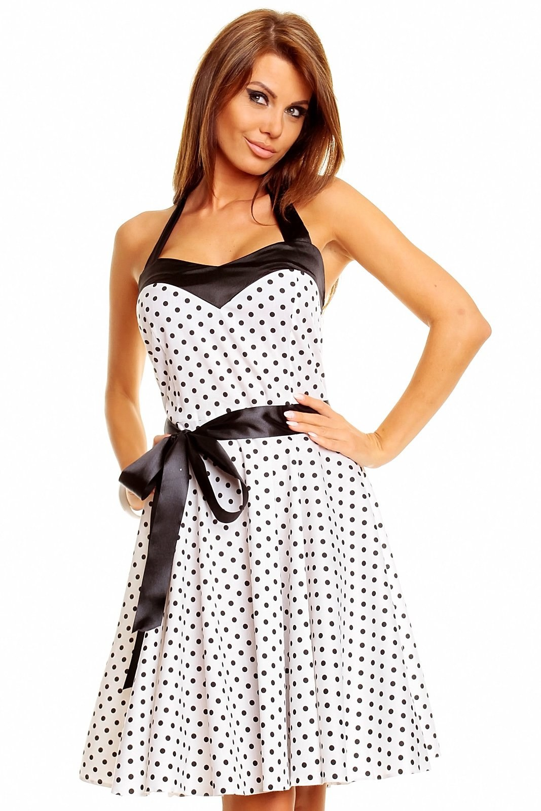 cf08a6f54cc2 Puntíkaté retro šaty ála Marilyn Monroe - Glami.cz