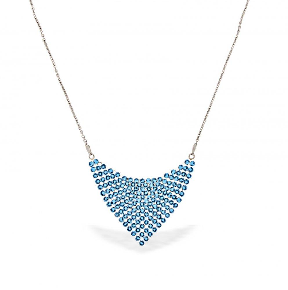 Spark Swarovski Elements Náhrdelník Chic ze stříbra s modrými křišťály  NMESH18AQ 793272243ba
