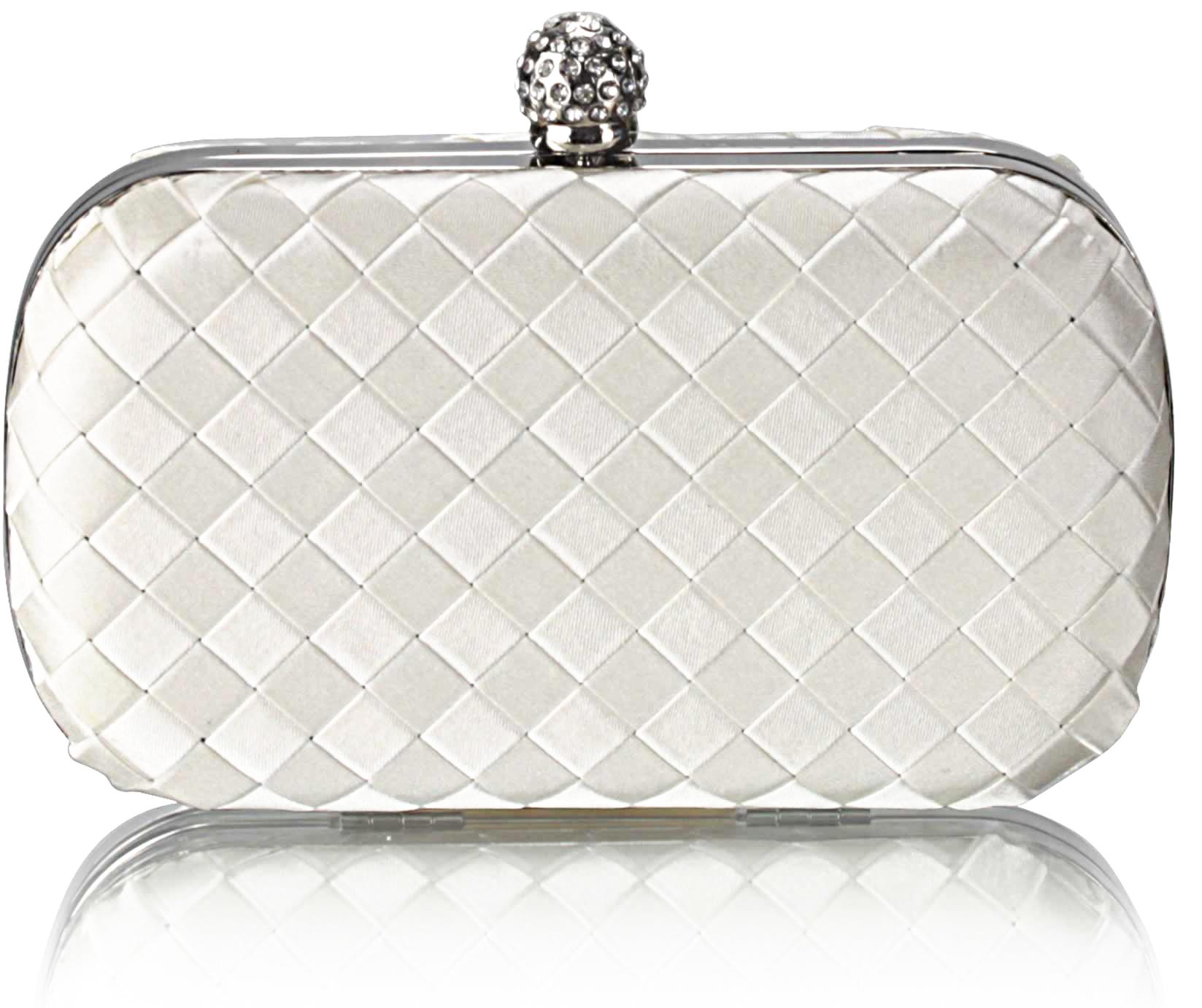 L S Fashion LS Fashion Společenská kabelka psaníčko LSE00213 krémově bílé 5107be22634