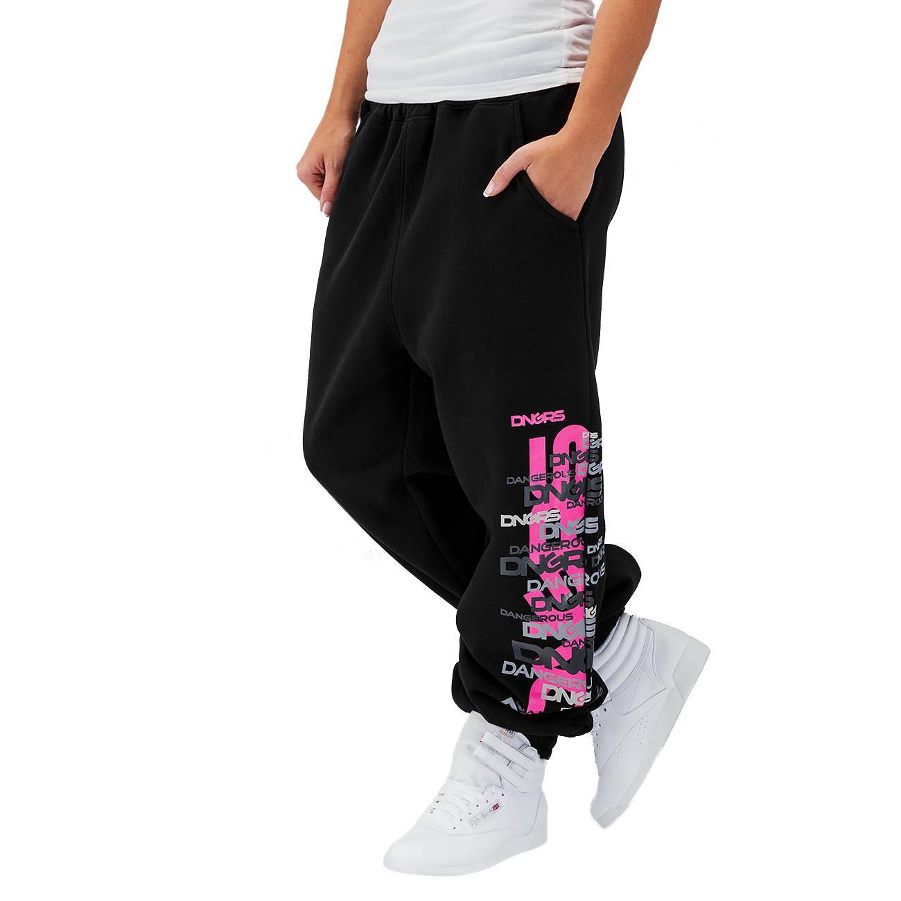 37557e775330 Dangerous DNGRS kalhoty dámské tepláky Logo Sweat Pants Black - Glami.cz