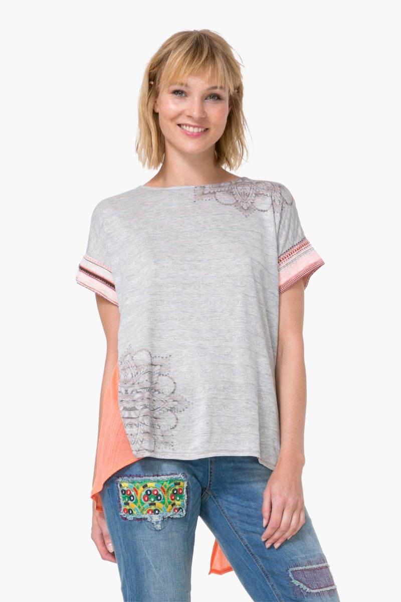 tričko Desigual Creta rosa tailandia - Glami.sk 693d1f1d0d0